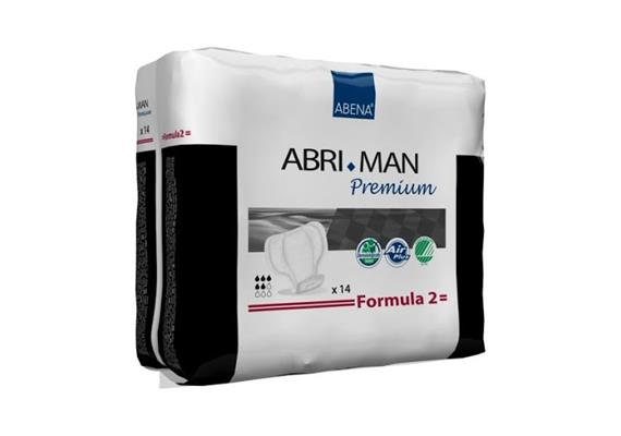 Abri-Man Formula 2 / 14 Stk Herreninkontinenzeinlagen, 700 ml, Dimension 29 x 23 cm