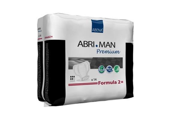 Abri-Man Formula 2 Herreninkontinenzeinlagen 15 Stk, Saugstärke700 ml,Dimension 29 x 23 cm
