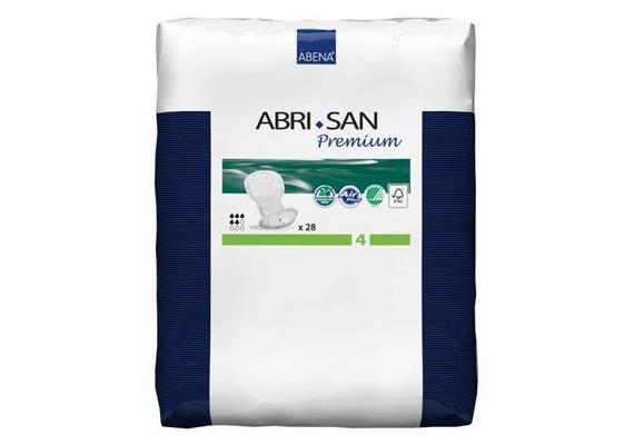 Abri-San Premium N°4 28 Stk anatomisch geformte Einlage grün, 20x44 cm, 800 ml