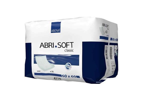 Abri-Soft Bed Krankenunterlage 60x60 / 25 Stk Einweg, Gewicht 65 g