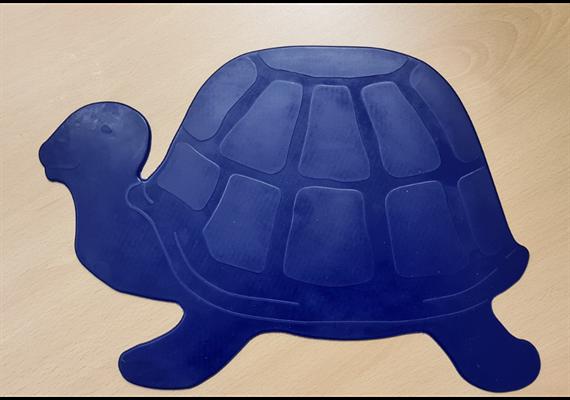 Antirutschunterlage Dycem 35x25cm Schildkrot-Form blau