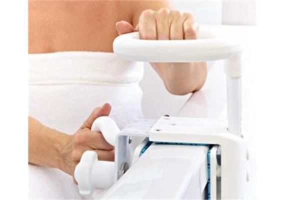 Badewannengriff HUGO weiss, belastbar bis: 120 kg vertikal und horizontal