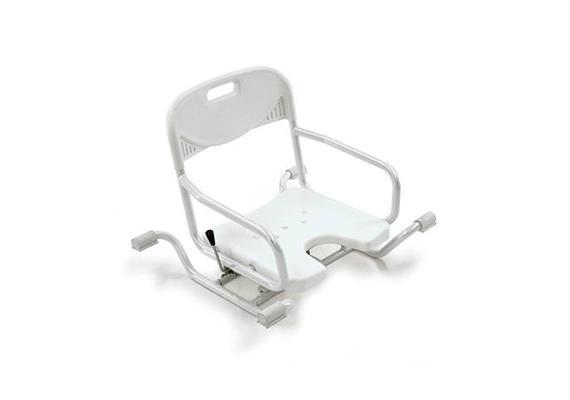Badewannensitz bano drehbar Breite verstellbar 70-84cm weiss mit Lehne, max. 120 kg