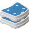 Badewannentritt Sky (stapelbare Trittstufe) 50x40x10cm weiss-blau, max. 140kg | Bild 2