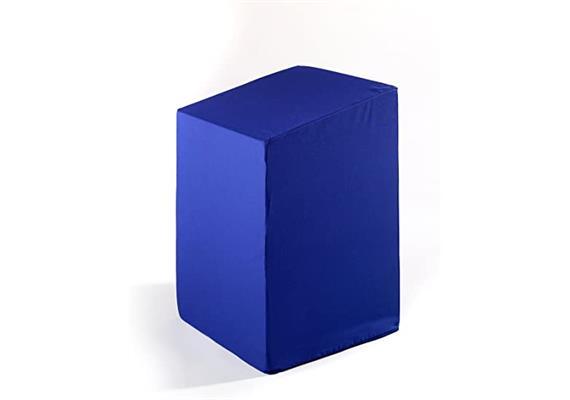 """Bandscheibenwürfel """"Basic"""" 40x35x48/55cm blau mit Tasche & praktischer Schlaufe zum Tragen"""