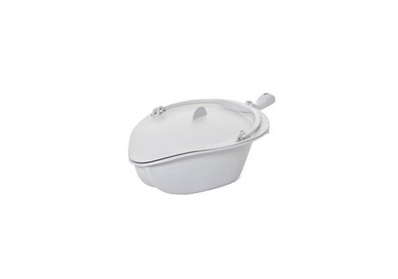 Becken mit Stiel und Deckel zu Clean grau (für Dusch- &Toilettenrollstuhl inkl. Handgriff)
