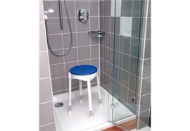 Drehbarer Softsitz für Duschhocker Komfort (Drehungen in 90°-Schritten möglich)
