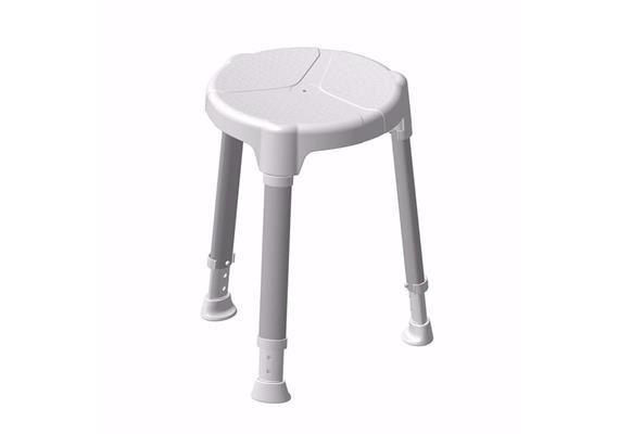 Duschhocker Rondino weiss höhenverst. 45-59.7 cm, Sitzfläche 34cm