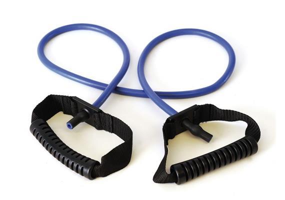 Fit-Tube blau (extra-stark) hygienische Flex-Griffe inkl. Übungsanleitung