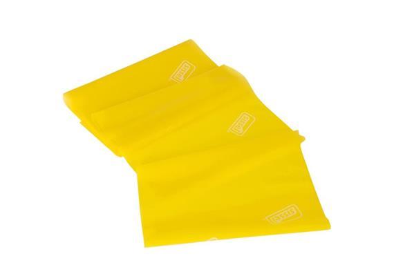 Fitband gelb (leicht) 5mx14.5cm, allergenreduziertes Naturlatex inkl. Kurzübungsanleitung