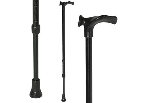 Gehstock anatomisch links silber höhenverstellbar (Handy) Griffhöhe 72 - 95 cm, max.125kg