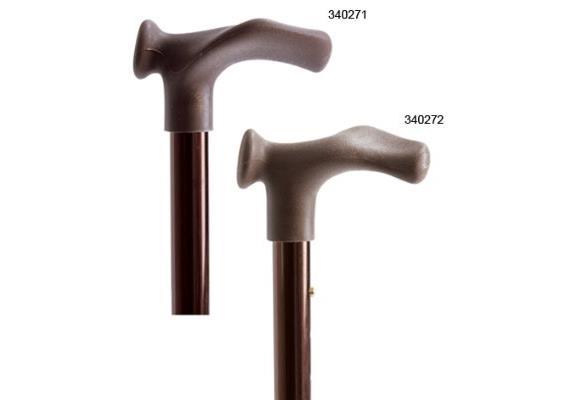 Gehstock anatomisch rechts höhenverstellbar bronze eloxiert, max. 100 kg, 400g