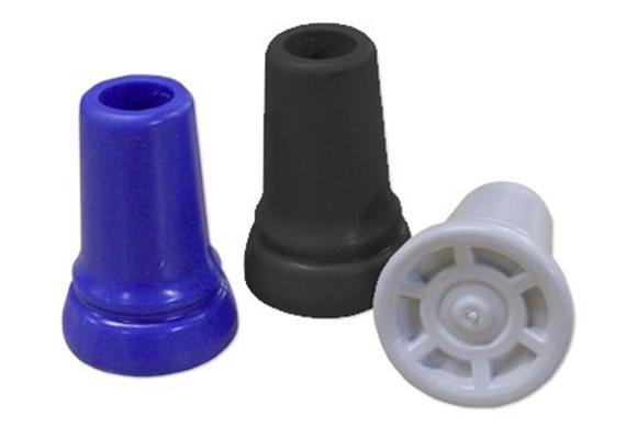 Gehstockgummi Rebotec 17mm schwarz (Aussendurchmesser 40 mm, Höhe 60 mm)