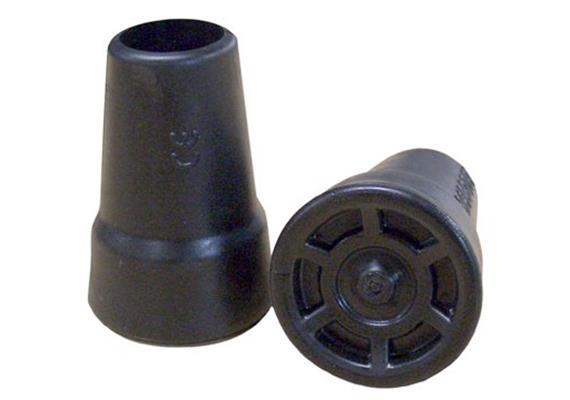 Gehstockgummi Rebotec 22mm schwarz Aussendurchmesser 40 mm | Höhe 60 mm