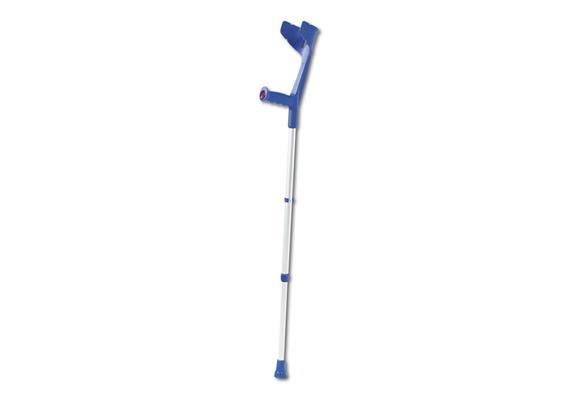 Gehstöcke Kinder blau mit Ergo-Softgriff mit Clip 60-80cm (Kowsky), Unterarmgehstütze