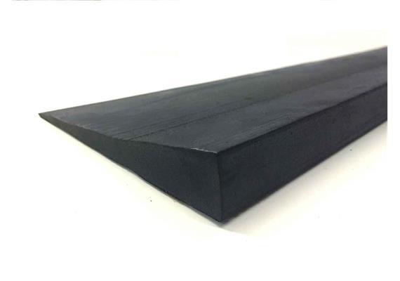 Gummirampe gerade 24x900x150mm (HxBxL) (2.5kg) schwarz
