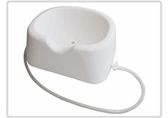 Haarwaschbecken/Wanne Profimodell mit Ablassschlauch und Kopfmulde weiss 50 x 40 x 20 cm
