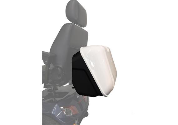 Heckbox Square weiss/schwarz zu Scooter EMobil