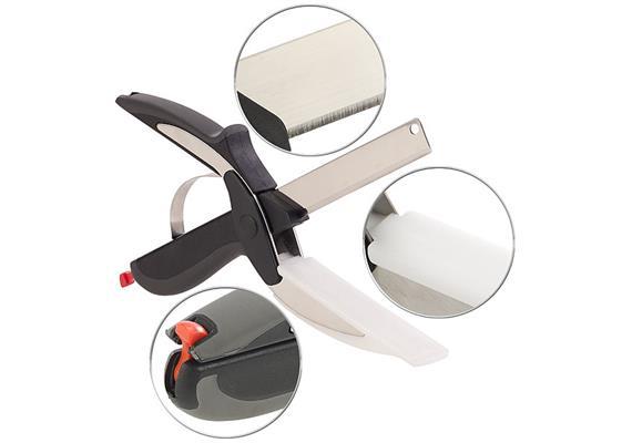 Küchenschneider Pearl mit integriertem Schneidebrett 245 x 75 x 28mm, spülmaschinenf.