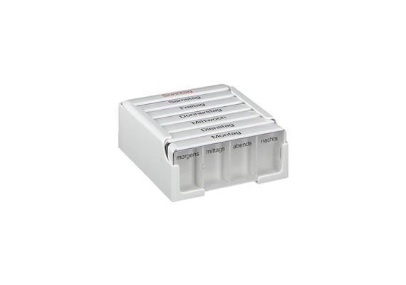 Medikamentenkassette Medi 7 mit grossen Einzelfächern (Medikamentendosierer für 7 Tage)