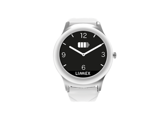 Notruf-Uhr Limmex Heidi weiss (Silikon L2)