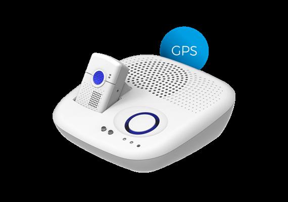 Notrufgerät SmartLife Care Flex weiss Komplettset 4G mit Notrufknopf Ellipse