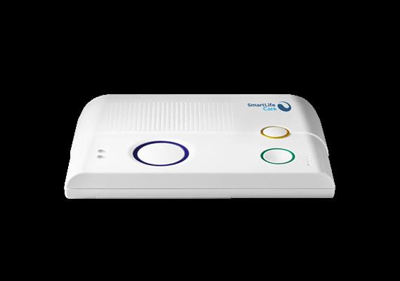 Notrufgerät SmartLife Care Genius weiss 4G inkl. Notrufknopf-Handsender Ellipse