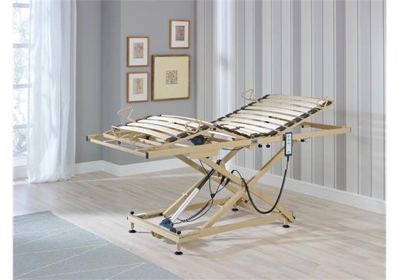 Pflege-Einlegerahmen Lite 90x190cm, Höhenverstellung 29-74cm, Arbeitslast 200kg