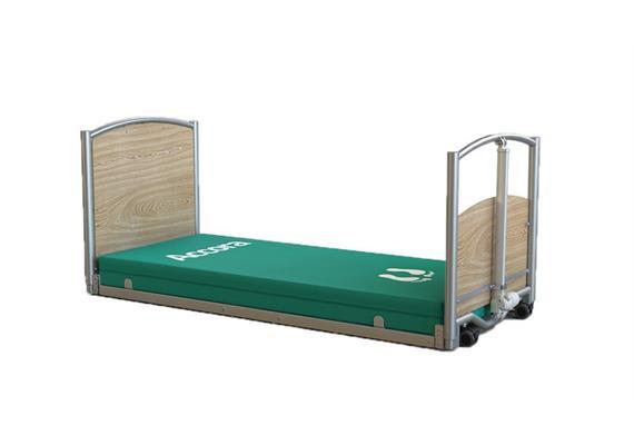 Pflegebett FloorBed 1 90x200 Ultra-Tiefeinstieg 7-65cm inkl. Transportgestell