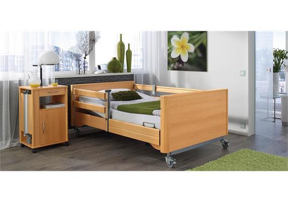 Pflegebett Giga 120x200cm, Arbeitslast 350kg inkl. Seitengitter