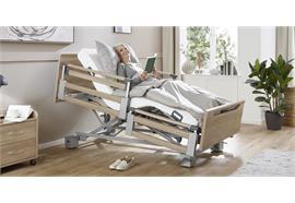 Pflegebett Komfort TSG 26-80cm mit geteilten Seitengittern ohne Aufziehstange