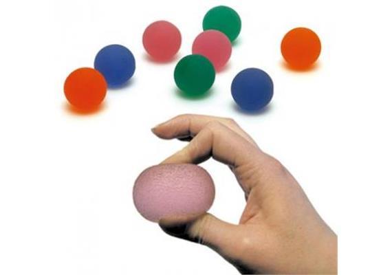 Press-Ball blau medium (mittel) Fit-Training für Hand und Unterarm inkl. Übungsanleitungen