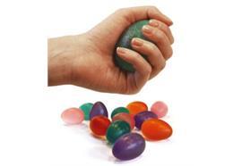 Press-Egg Sissel pink soft leicht, Fit-Training für Hand+Unterarm, inkl. Übungsanleitung