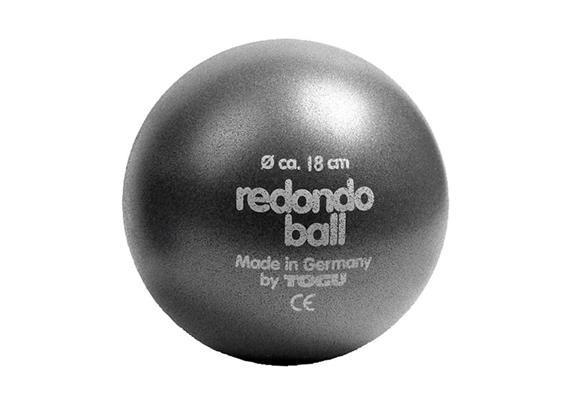 Redondo Ball 18cm anthrazit, Belastbarkeit bei Übungen im Liegen ca. 120 kg, mit Stöpsel