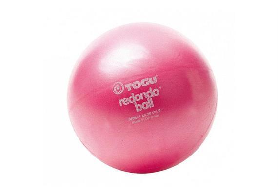 Redondo Ball 26cm rubinrot inkl. Übungsbeispielen und Aufblas-Hilfe max. 120 kg im Liegen