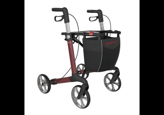 Rollator Birkenrot Eva M (SH55) rot inkl.Softräder und Stockhalter