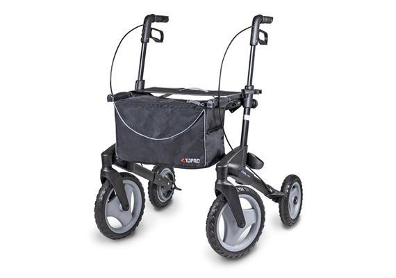 """Rollator Topro Olympos """"M"""" mit grossen Vorderrädern matt black (schwarz)"""
