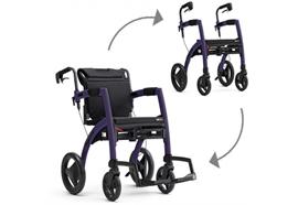 Rollstuhl/Rollator Rollz cool grey