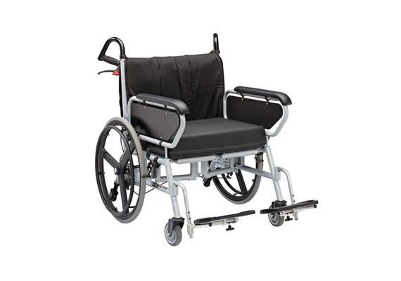 Rollstuhl XXL SB61 mit Scheibenbremse bis 325kg belastbar, inkl. Sitzkissen