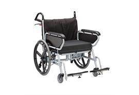 Rollstuhl XXL SB66 mit Scheibenbremse bis 325kg belastbar, inkl. Sitzkissen