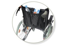 Rollstuhlnetzli schwarz mit Innenfutter, Einkaufsnetz, waschbar bis 30 °C, max. 5 kg