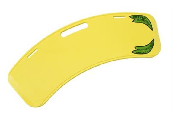 Rutschbrett 68cm Banane-Glideboard Curved gelb, 1.2 kg (23 cm tief)