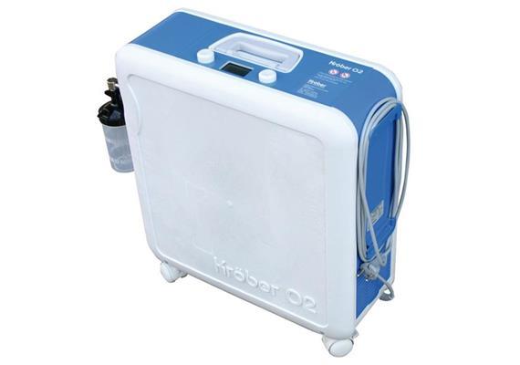 Sauerstoffkonzentrator Kröber O2 Oxygen inkl. Winkelaufnahme für befüllbaren Befeuchter