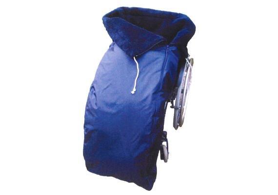 Schlupfsack gefüttert blau/grau Gr.6 XXL bis 190cm 60% Schurwolle, waschbar 30°C, Marine