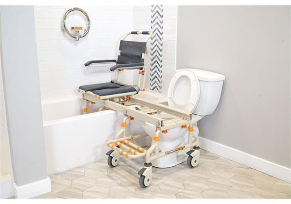 ShowerBuddy Dusch-/Toilettenstuhl mit Transferschiene für Badewanne