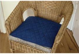 Sitzauflage saugfähig 45x45cm blau