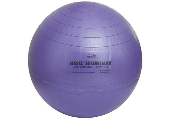 Sitzball Securemax 65cm blau-lila max. 150 kg, inkl. Übungsposter und Stöpselheber
