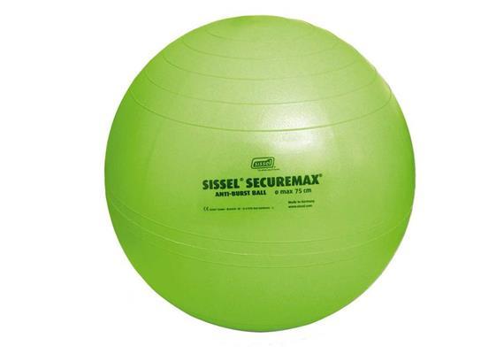 Sitzball Securemax 65cm lime-grün, max. belastbar 150 kg, inkl. Übungsposter +Stöpselheber