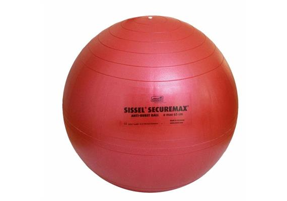 Sitzball Securemax 65cm rot max. Belastbarkeit 150 kg, inkl. Übungsposter und Stöpselheber