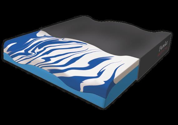 Sitzkissen Gelseat Bezug Mesh schwarz mit Cooling-Effekt 40x42x8 cm